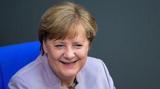 Angela Merkel kann genauso wie Theresa May.