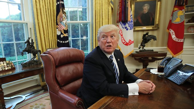 100 Tage im Oval Office: Donald Trump.