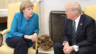 Beziehungsstatus: kompliziert: Zwischen Merkel und Trump holpert es