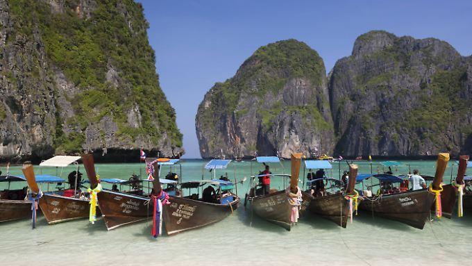 Die vielen Touristen belasten das Korallenriff.