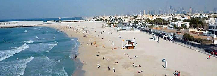 n-tv Spezial Dubai: Kite Beach: Traumstrand vor der Skyline Dubais
