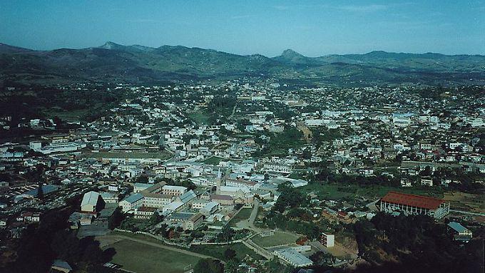 Blick auf Fianarantsoa.