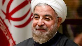 Irans Präsident Ruhani hofft auf eine Wiederwahl.
