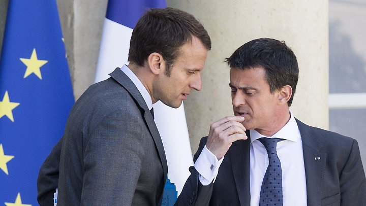 Macron und Valls (r.) waren Hoffnungsträger der Sozialisten. Beide kehrten der Partei den Rücken.