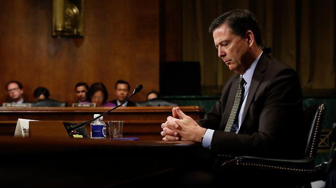 Bereits Anfang Mai sagte James Comey im Senat aus. Damals ging es um die mögliche Einflussnahme Russlands auf die US-Wahl.