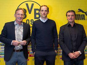 Entzweit: BVB-Geschäftsführer Hans-Joachim Watzke (l.) und Trainer Thomas Tuchel.
