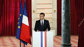 """Frankreichs neuer Präsident Macron: """"Müssen Exzesse der Weltentwicklung korrigieren"""""""