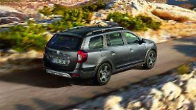 Grobe Schotterwege kann man mit einem Dacia Logan MCV Stepway locker überlaufen.