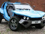 Mit dem Standbuggy Bug:R und dem Supersportler Exile bietet Lee Noble zwei sehr exzentrische Autos an.