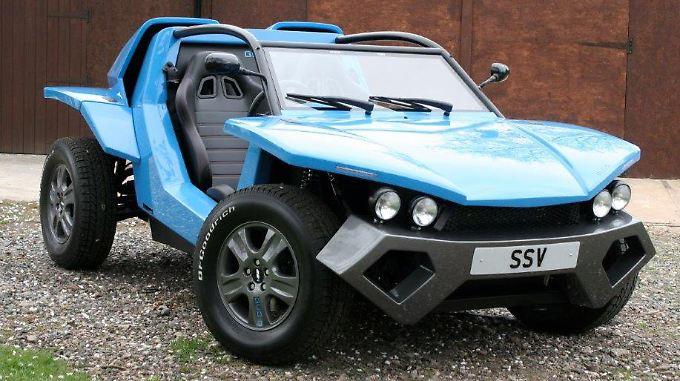 Mit dem Strandbuggy Bug:R und dem Supersportler Exile bietet Lee Noble zwei sehr exzentrische Autos an.