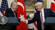 Erdogan zu Besuch im Weißen Haus: Trump verspricht Rückhalt gegen IS und PKK