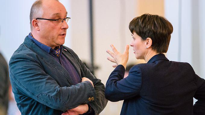 Petry setzt sich in Sachen Ausschlussverfahren gegen Jens Maier (l.) offenbar durch.