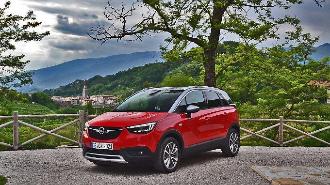 Der Opel Crossland X ist kein echtes SUV, taugt aber mit der richtigen Motorisierung auch für lange Bergstrecken.