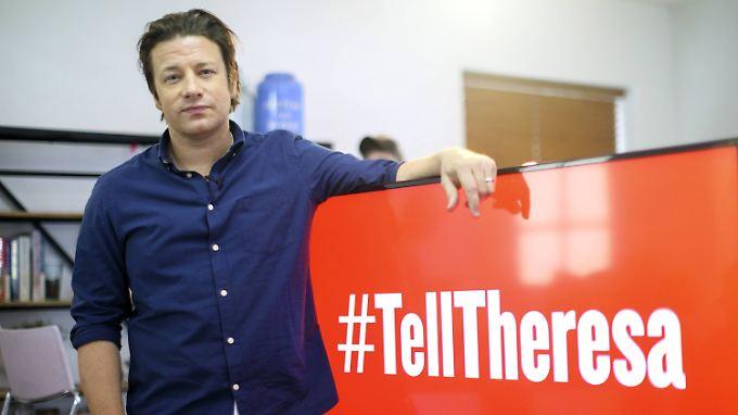 TV-Koch Jamie Oliver setzt sich seit Jahren für gesünderes Schulessen ein.