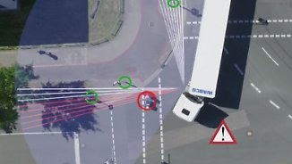 Verhinderung tödlicher Unfälle: Abbiegeassistent in Lkw soll Radfahrer schützen