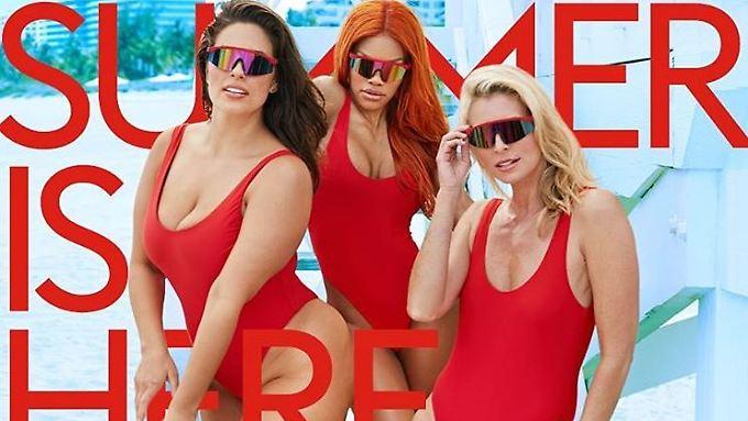 Mit ihnen kommt der Sommer: Ashley Graham, Teyana Taylor und Niki Taylor (v.l.n.r.).