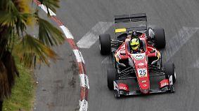 Unfallreiches F3-Rennen in Pau: Günther jubelt, Schumacher verpasst Podest