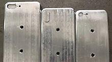 Größenvergleich mit 7s-Geräten: iPhone 8 ist ein kleiner Riese