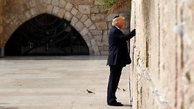 Warmer Empfang trotz Skepsis: Israel-Visite wird für Trump zur Gratwanderung