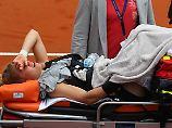 """Tennisspielerin schwer verletzt: In Siegemunds Knie hat's """"geknallt"""""""