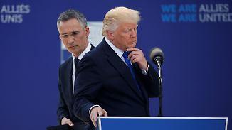 Weiterreise zum G7-Treffen: Trump gibt sich beim Nato-Gipfel unbequem