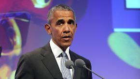 """Begeisterung bei den Promis: Obama schlägt bei """"Medienpreis""""-Verleihung nachdenkliche Töne an"""