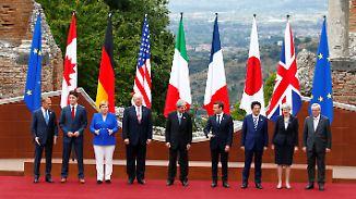 Schwierige Verhandlungen in Taormina: Trump spaltet G7-Gipfel