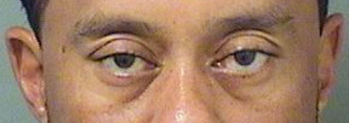 Tiger Woods, wie er auf dem Polizeirevier aussah.