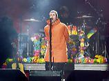Liam Gallagher von Oasis trat auch auf dem Benefiz-Konzert auf, sang aber einen anderen Song.