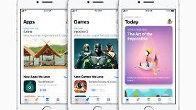 Der App Store in seinem neuen Design.