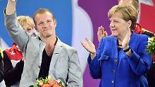 Zur Verabschiedung eines der erfolgreichsten deutschen Turner gibt sich sogar die Bundeskanzlerin die Ehre.