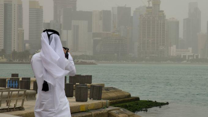 Sandsturm in Doha, der Hauptstadt von Katar.