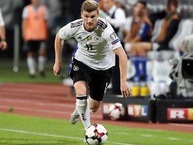 Timo Werner von Rasenballsport Leipzig ist nicht bei allen Fans der deutschen Fußball-Nationalmannschaft beliebt.