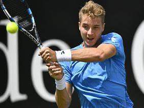 Jan-Lennard Struff war in diesem Jahr als erster deutscher Tennisprofi in Stuttgart erfolgreich.