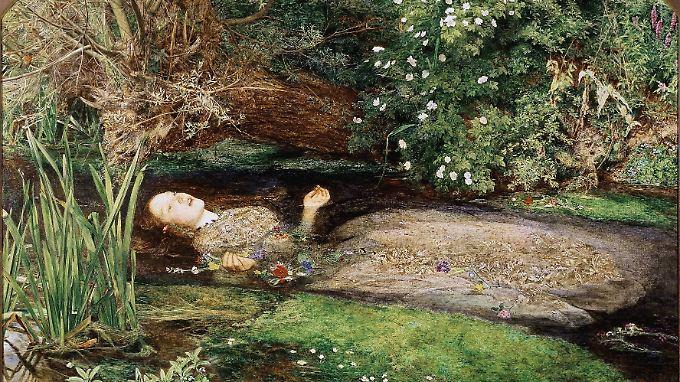 """""""Ophelia"""" von John Everett Millais - eine Kopie des Gemäldes hängt im Zimmer von Nel."""