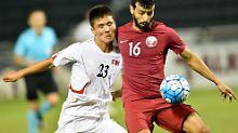 Nordkorea hat sich zuletzt für die WM 2010 in Südafrika qualifiziert. Auch 2018 wird der isolierte Staat nicht dabei sein.