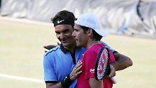 Unter Freunden: Haas schickt Federer wieder heim
