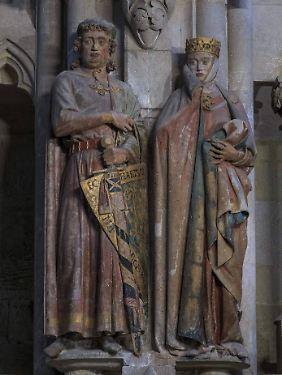 Uta von Naumburg gilt als schönste Frau des Mittelalters. Ihre Stifterfigur ist im Westchor des Naumburger Doms zu finden.