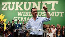"""Wahlkampfschlager: Die Grünen machen sich mit einem Zitat aus Nenas """"99 Luftballons"""" Mut."""