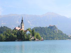Aussicht auf Bled.
