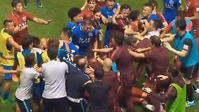 XXL-Rudelbildung in Chinas Super League: Brasilianischer Superstar löst wüste Schlägerei aus