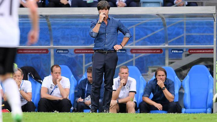 Löw hat im Spiel Deutschland gegen Australien einen Videobeweis live miterlebt.