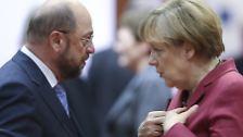 Angela Merkel oder Martin Schulz - das ist das entscheidende Duell vor ...