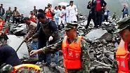 Naturkatastrophe in China: Erdrutsch verschüttet ganzes Dorf