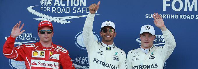 Großes F1-Spektakel von Baku: Hamilton rast zur Pole, Vettel abgehängt
