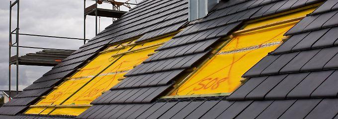 Dachgeschosse heizen sich im Sommer leicht auf.