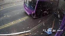 Vom Doppeldeckerbus erfasst: Brite geht nach Horror-Unfall in Pub