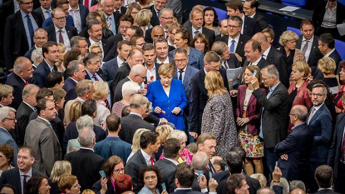 Kanzlerin Angela Merkel stimmte gegen die Ehe für alle - und war damit in der Minderheit.
