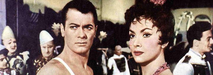 Aber sie steht mit den bekanntesten Darstellern der Zeit vor der Kamera: mit Tony Curtis (Bild) und Burt Lancaster, …