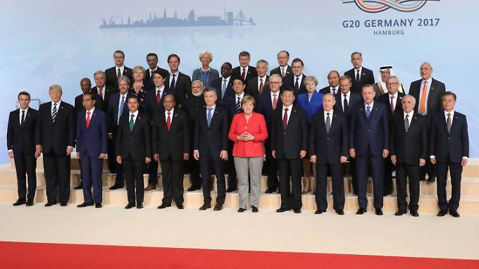 Und das sind sie: Die G20-Teilnehmer von 2017.